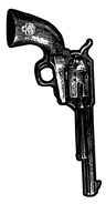 Mini Revolver Biker Stickers/25 pack | Biker