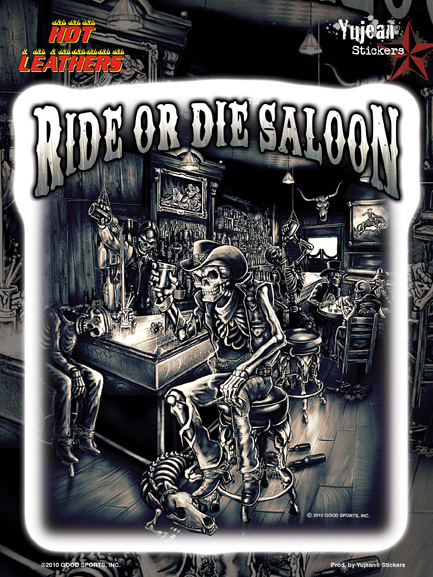 Hot Leathers Saloon Bikers 6x8 Sticker | Biker