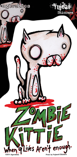 Agorables Zombie Kitty Sticker