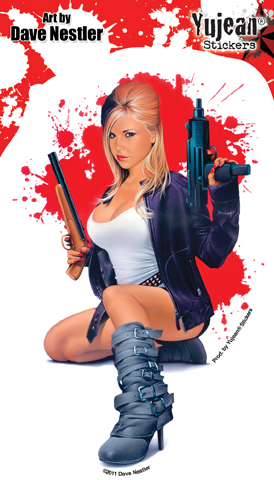 Dave Nestler Armed & Fabulous Pinup Sticker | The Very Latest!!!