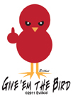 Evilkid 'Give 'em The Bird' Mini Sticker 25-Pack | Roller Derby