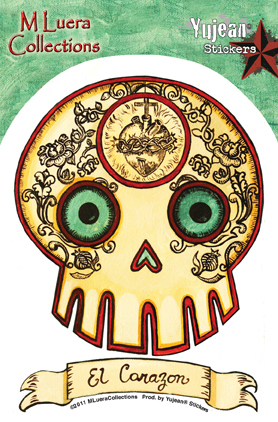 MLuera El Corazon Loteria Day of the Dead Sticker | Undead, Skeletons and Creatures of the Night