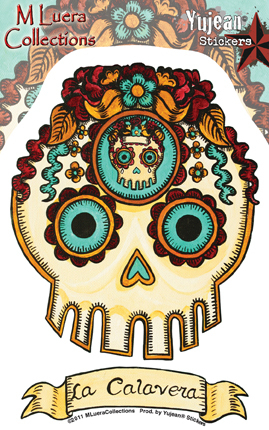 MLuera La Calavera Day of the Dead Skull Sticker | Undead, Skeletons and Creatures of the Night