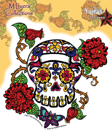 MLuera Thorned Roses Day of the Dead Sticker | Butterflies
