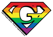 Super Gay Mini Sticker 25 Pack | Gay Pride, LGBT