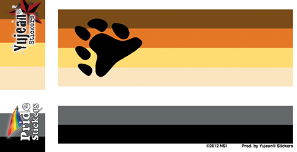 Bear Pride Flag Sticker | Window Stickers: Clear Backing, Put Them Anywhere!