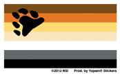 Mini Bear Flag Sticker 25-pack | Gay Pride, LGBT
