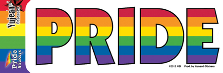 Rainbow Pride Sticker | Gay Pride, LGBT