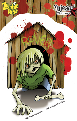 Frank Wiedemann Zombie Kid Reginald Sticker | ZOMBIE ATTACK!