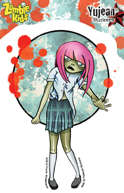 Frank Wiedemann Zombie Kid Cassandra Sticker | ZOMBIE ATTACK!