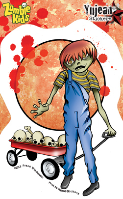 Frank Wiedemann Zombie Kid Douglas Sticker | Window Stickers: Clear Backing, Put Them Anywhere!