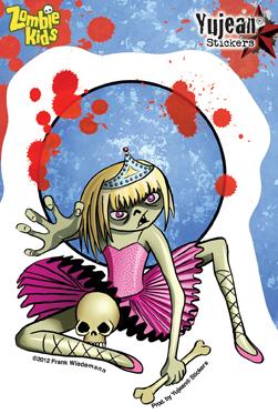 Frank Wiedemann Zombie Kid Vanessa Sticker | ZOMBIE ATTACK!