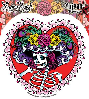 Sunny Buick's Flower Hat Sugar Skull | Sugar Skulls