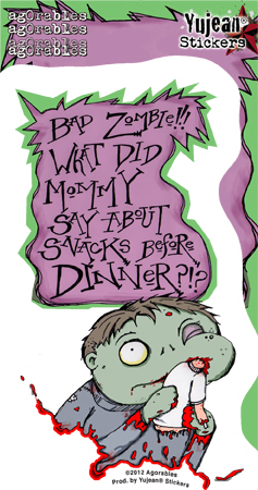 Agorables Bad Zombie Sticker | Agorables