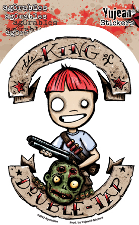 Agorables King of Double Tap Zombie Hunter Sticker | Undead, Skeletons and Creatures of the Night