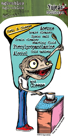 Agorables Meth & Cheese Sticker | Stickers