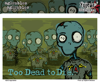 Agorables Too Dead To Die Zombie Sticker | CLEARANCE!!