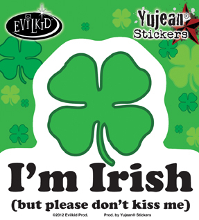Evilkid I'm Irish Sticker | Stickers