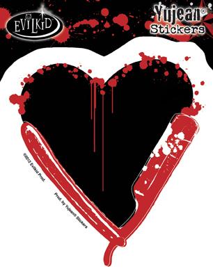 Razor Heart Sticker | Stickers