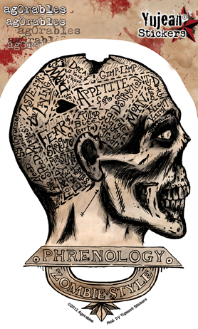 Agorables Zombie Phrenology Sticker | Stickers