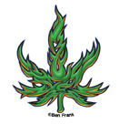 Tribal Pot Leaf 25-pack Mini Stickers | Cannabis