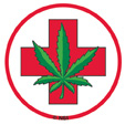 Medical Marijuana 25-pack Mini Stickers | Hippie