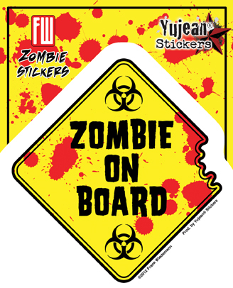 Zombie on Board Sticker | LOL!!!