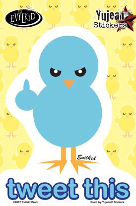 Tweet This Sticker | Evilkid