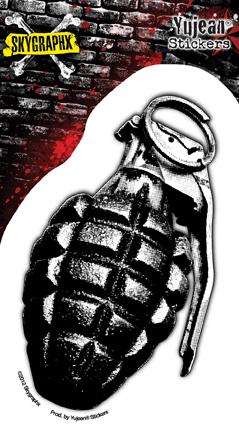 Skygraphx Printed Shrapnel Grenade Sticker | Military!!