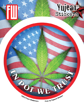 In Pot We Trust Sticker | Hippie