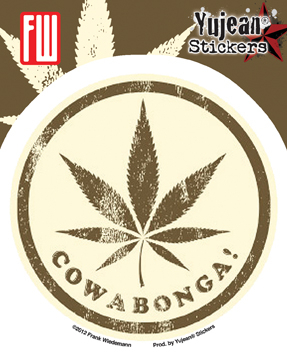 Cowabonga 2 Sticker | Window Stickers: Clear Backing, Put Them Anywhere!