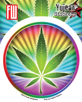 Psychedelic Potleaf Sticker | Stickers