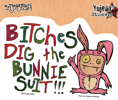 Agorables Bunny Suit Sticker | Trend