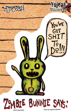 Agorables Zombie Bunny Sticker | Stickers