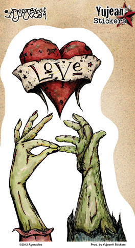 Agorables Zombie Hand Kiss Sticker