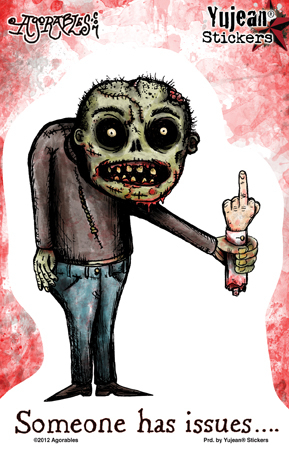 Agorables Zombie Issues Sticker | ZOMBIE ATTACK!