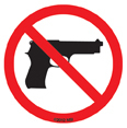 No Guns - Mini Stickers 25 packs | Peace and Eco