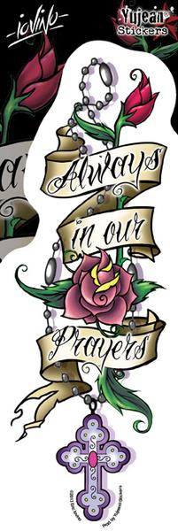 Eric Iovino Always in Our Prayers sticker | Stickers