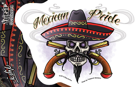 Eric Iovino Mexican Pride sticker | Stickers