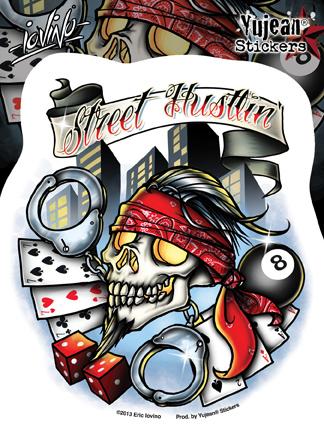 Eric Iovino Street Hustlin' sticker | Stickers