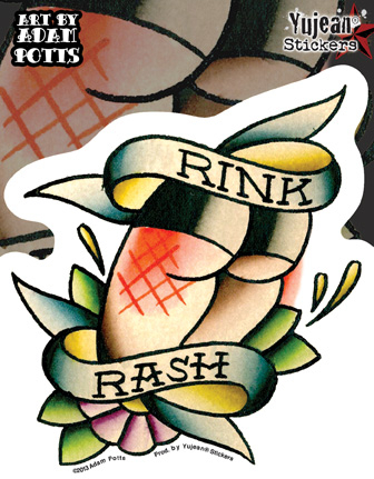 Rink Rash Roller Derby Sticker | Roller Derby