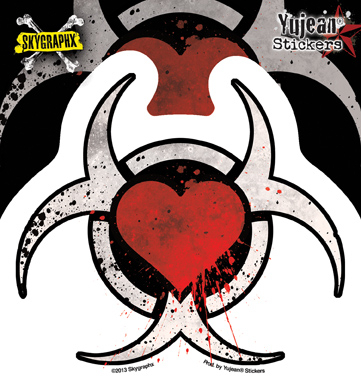 Skygraphx Toxic Heart Sticker | Tattoo