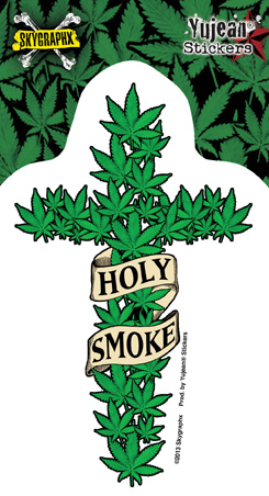 Skygraphx Holy Smoke Pot Sticker | Cannabis