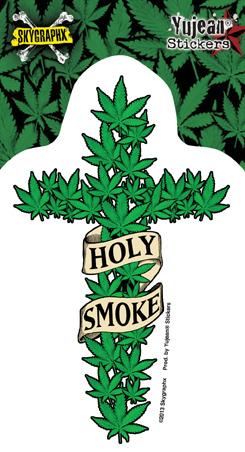 Skygraphx Holy Smoke Pot Sticker | Cannabis