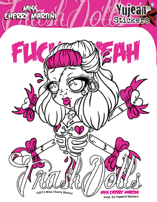 Miss Cherry Martini Trash Dolls Sticker | Roller Derby