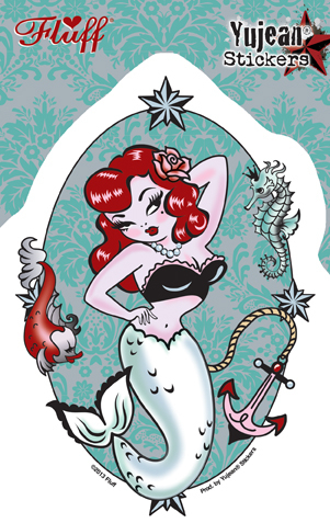 Fluff Molly Mermaid sticker | Pinups