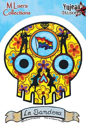 M Luera La Bandera sticker | Latino