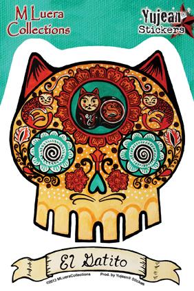 M Luera El Gatito sticker | Stickers