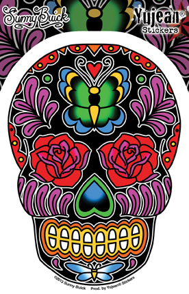 Sunny Buick Butterfly Sugar Skull Sticker | Stickers