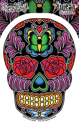 Sunny Buick Butterfly Sugar Skull Sticker | Sunny Buick